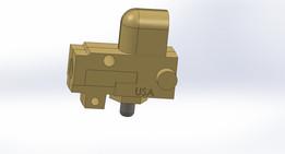 Low flow pin valve