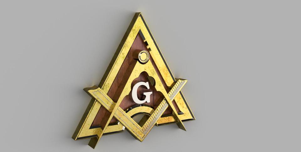 Freemason Logo 3d Cad Model Library Grabcad