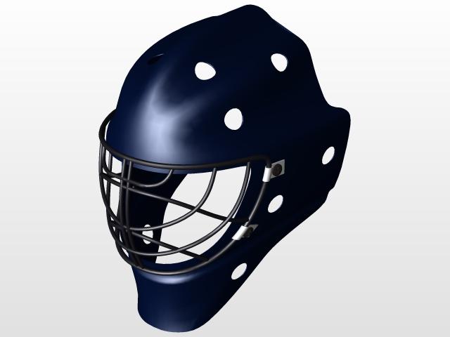 A Goalie Mask 3d Cad Model Library Grabcad