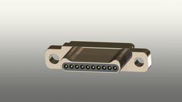 Glenair GMSM Series Straight Through Hole Micro-D Solder Connector