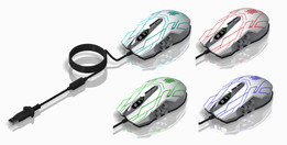 10D 4000DPI Optical Mouse LED Wired