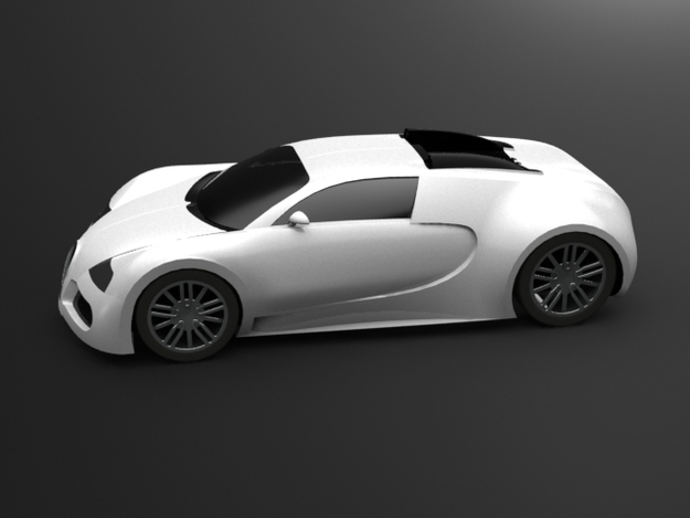 how to draw a 3d bugatti veyron step by step