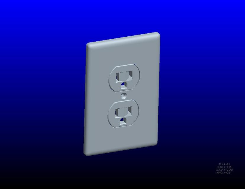 Electrical Wall outlet | 3D CAD Model Library | GrabCAD