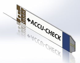 Accu Check Aviva glucose test strip