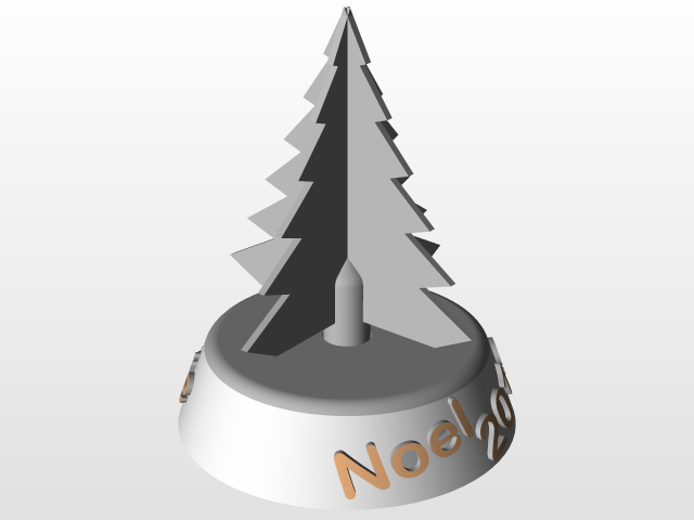 Sapin Noel Lumineux Marque Place 3d Cad Model Library