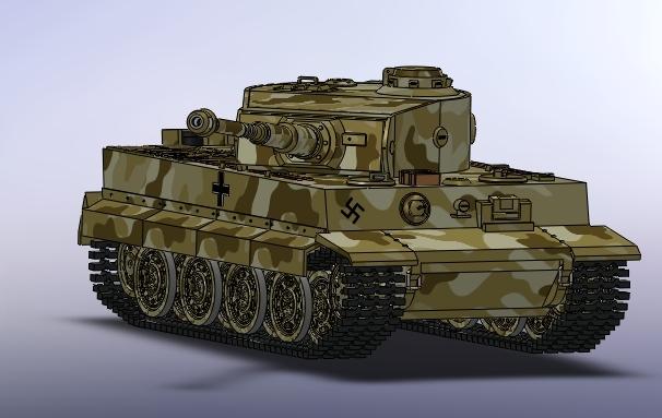 Tiger Tank Solidworks Stl Solidworks 3d Cad Model