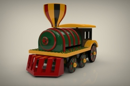 Flying toy train