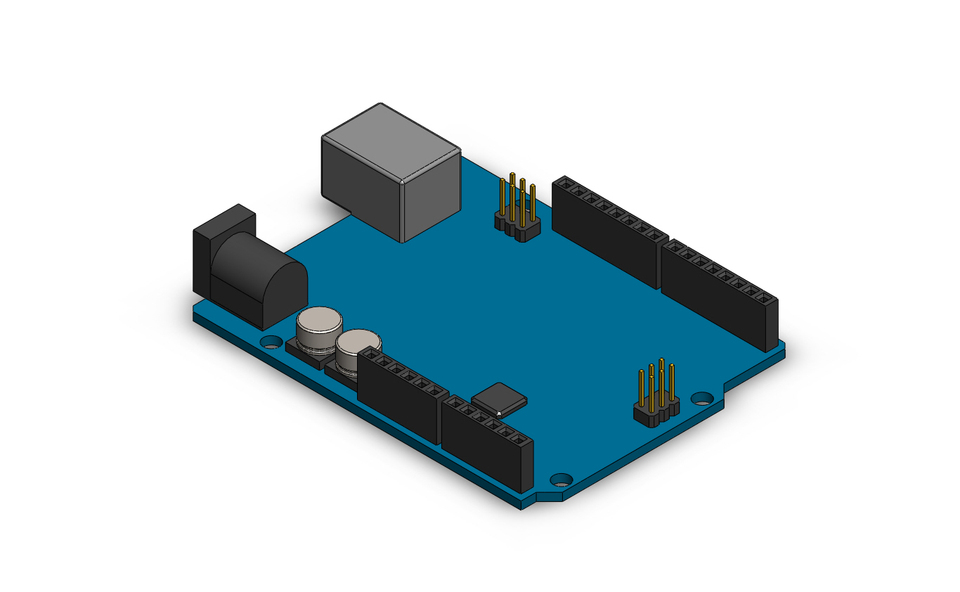 Arduino uno simple d cad model library grabcad