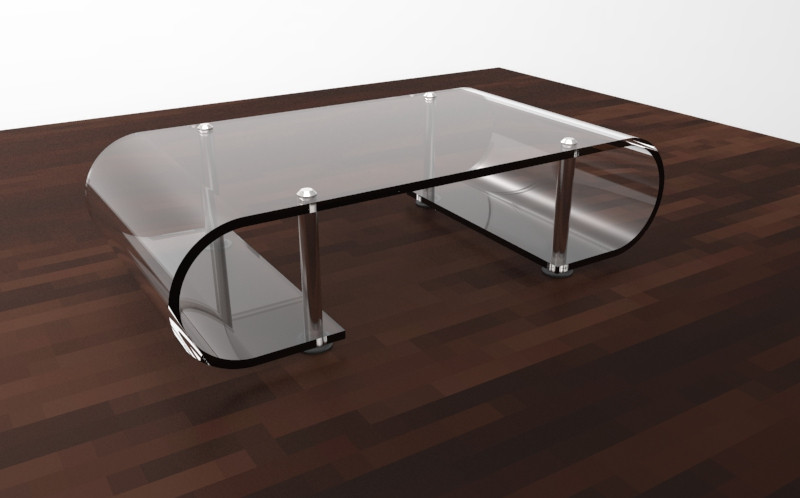 Glass Table 3d Cad Model Library Grabcad