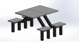 table 160cm x 200cm x 100cm
