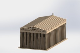 Parthenon, sheetmetal puzzle, architecture, 3d model, 3d puzzle