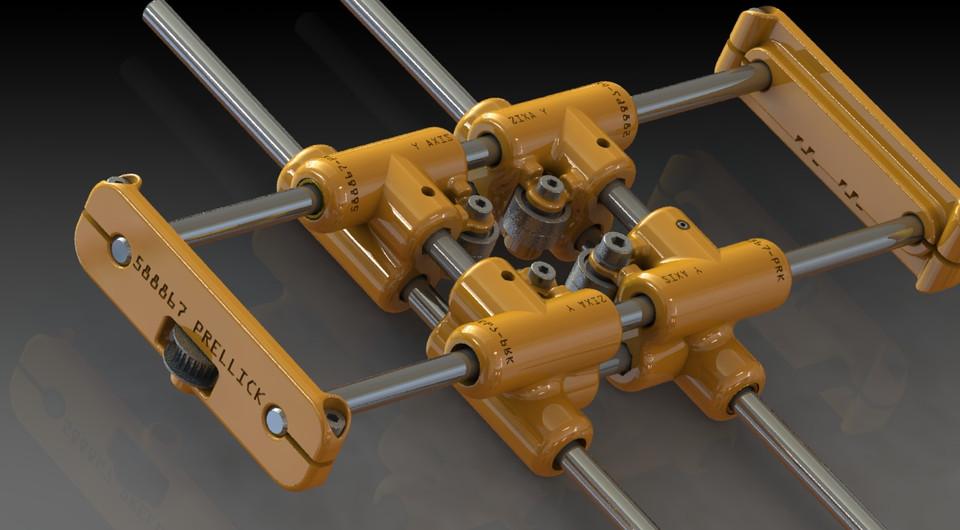 x y plotter unit _ study | 3D CAD Model Library | GrabCAD