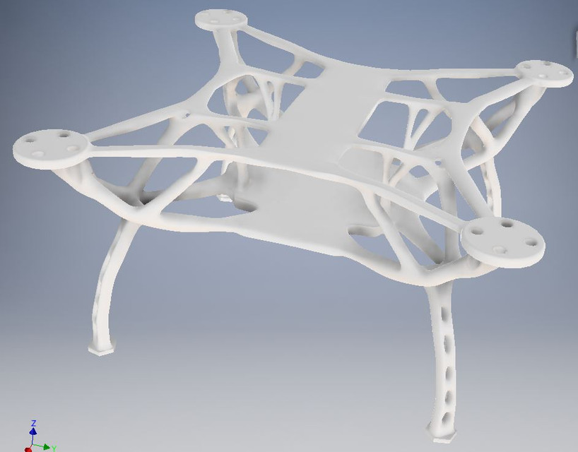 Nature Quadcopter Drone Frame (Generative Design) | 3D CAD Model ...
