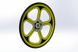 bike wheel with brake disk