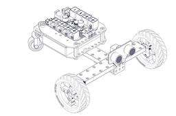 Three-wheeled Robot Car