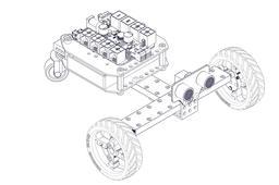 Three-wheeled Robot Car