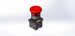 Botão vermelho trava 1NA+1NF