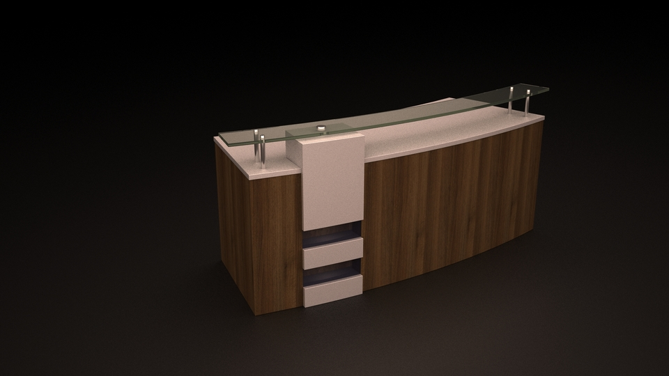 Reception table   3D CAD Model Library   GrabCAD
