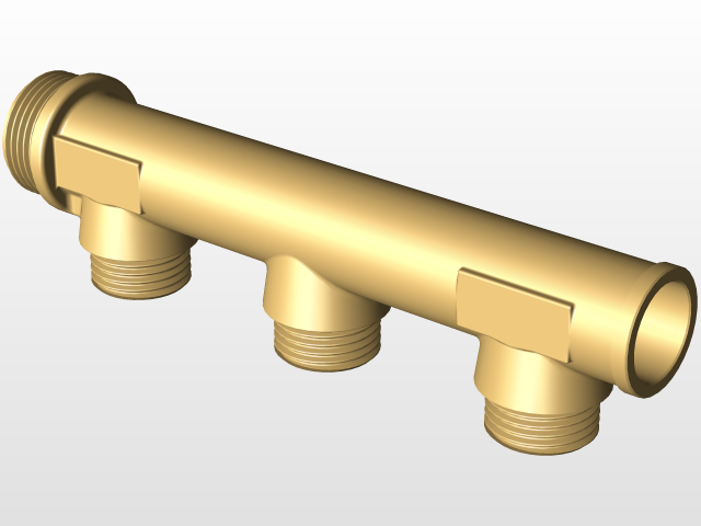 UPONOR Manifold WTR DR 2 | 3D CAD Model Library