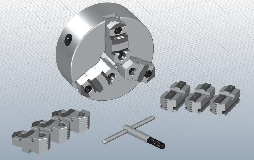 Lathe Chuck   3D CAD Model Library   GrabCAD