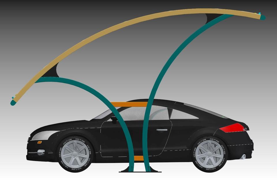 Parking Shade   3D CAD Model Library   GrabCAD