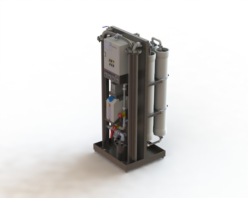 Desalination ( Compact RO ) | 3D CAD Model Library | GrabCAD