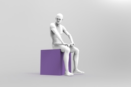 Seated Man Sculpture