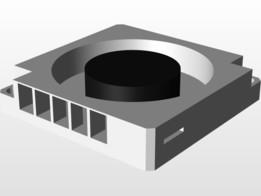 Aluminum Heatsink Fan (LattePanda)