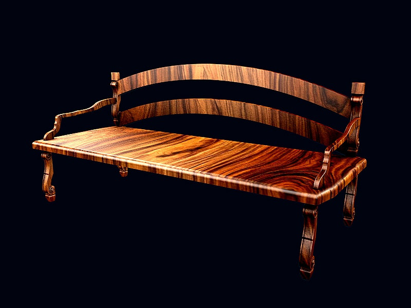 Awe Inspiring Classic Wooden Bench Max Bracic 3D Cad Model Library Grabcad Ibusinesslaw Wood Chair Design Ideas Ibusinesslaworg