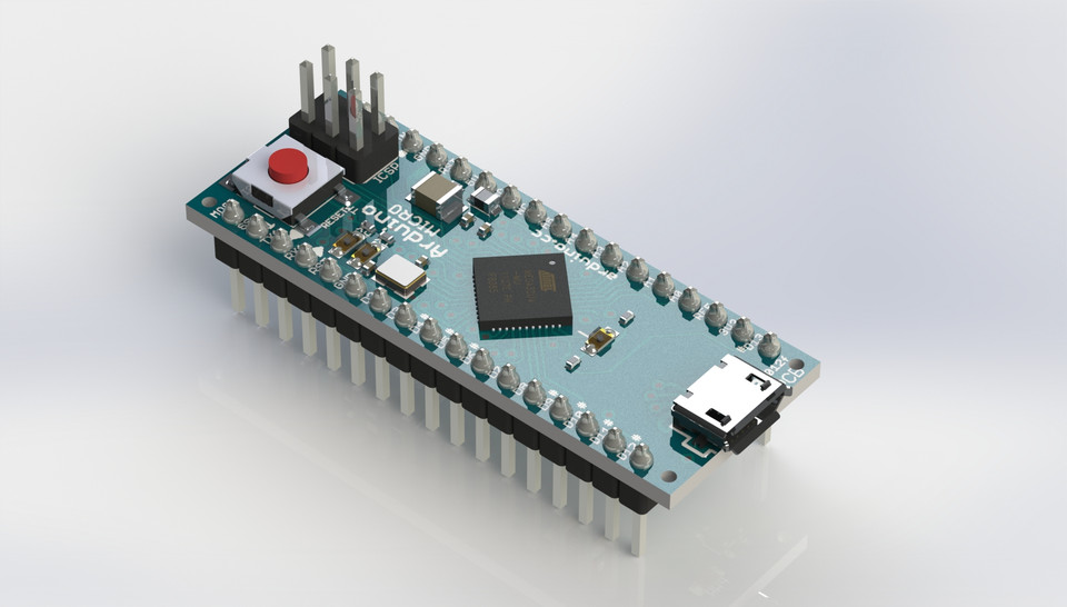 Arduino micro d cad model library grabcad