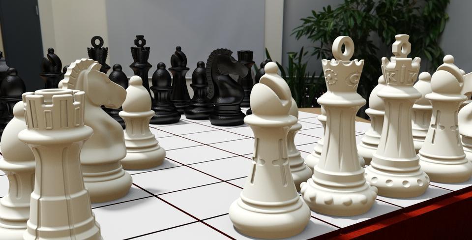 Customized Staunton Chess Set 3d Cad Model Grabcad