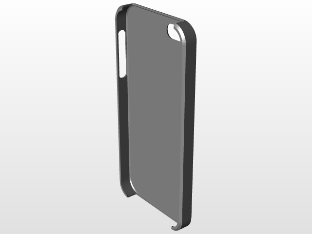 new styles adb24 676e8 Basic Iphone 5/5s case design | 3D CAD Model Library | GrabCAD