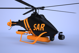 sar uav bearingless rotor