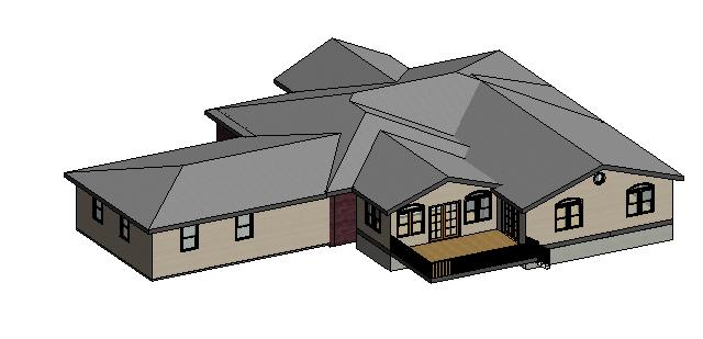 Remodeling to a dean house autodesk revit 3d cad model grabcad - Revit home design ...