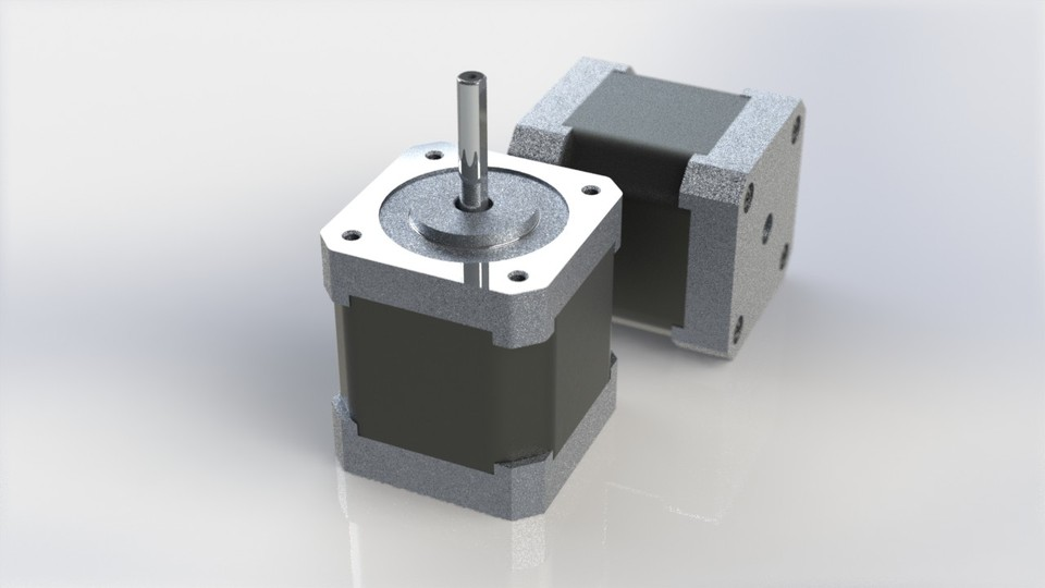 nema 17 stepper motor 3d cad model library grabcad
