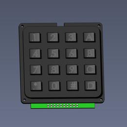 4x4 button keypad matrix