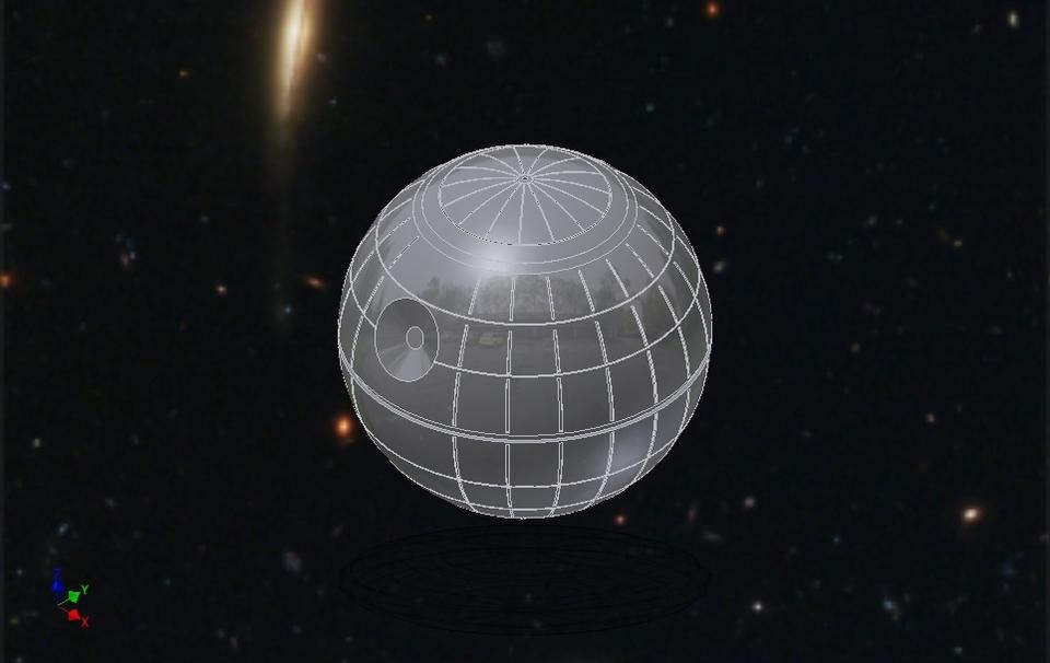 Death star star wars step iges autodesk inventor 3d for 3d star net