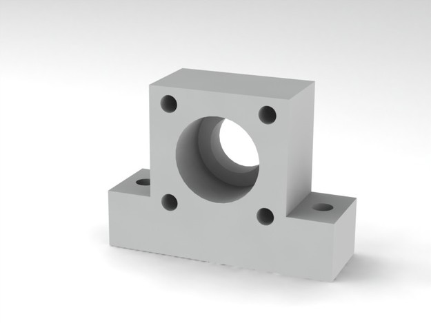 Pillow block for dual 608 bearing for linear motion screw
