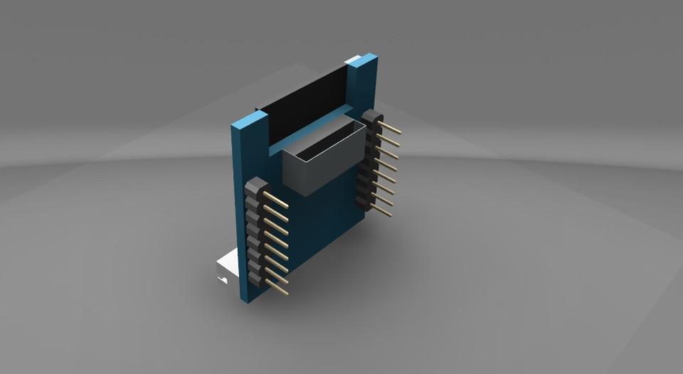 ArduCAM ESP8266 Nano | 3D CAD Model Library | GrabCAD