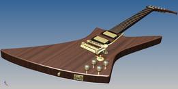 self-built explorer guitar