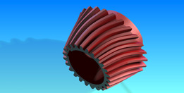 Bevel gear with helical teeth
