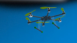 Carbon fiber hexacopter