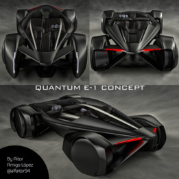Quantom E-1 Electric Hypercar Concept