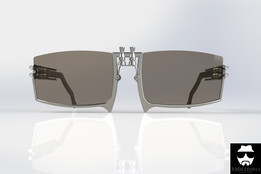 Sunglasses made out of motorbike parts.
