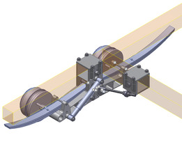 Trailer Suspension 3 With Brace