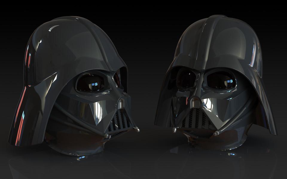 darth vader helmet 3d cad model library grabcad