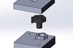 Knob and Mold Cavity