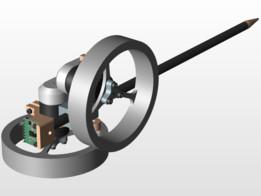 Self Balancing Stick - Dual Axis Reaction Wheel Inverted Pendulum