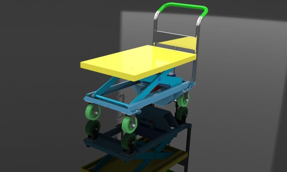 Dandy Lift Cart Scissor Hydraulic 3d Cad Model Library