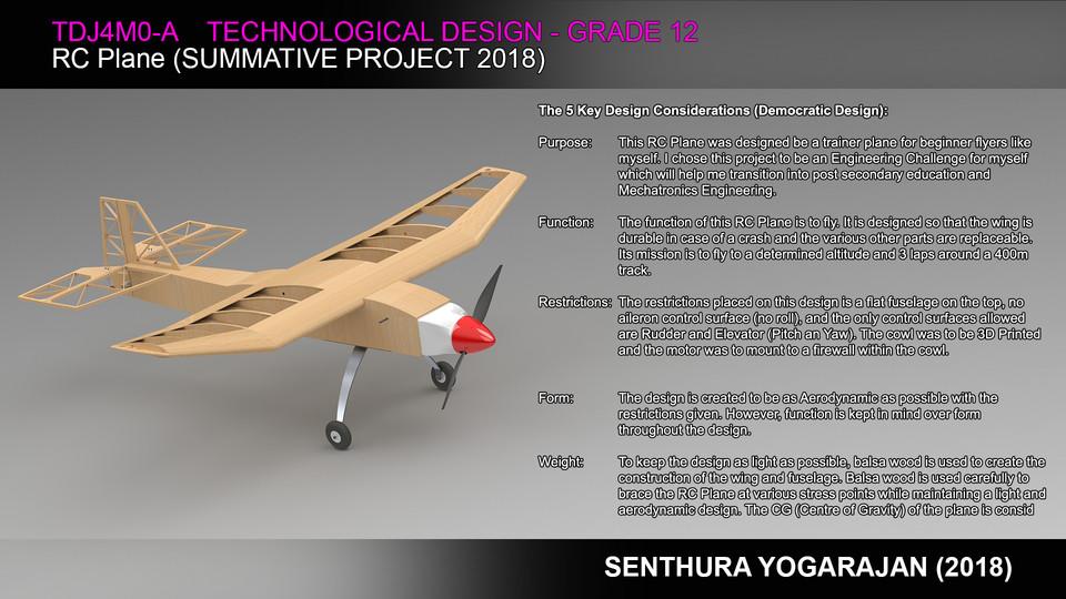 RC Plane Final Summative (TDJ4M0-A) | 3D CAD Model
